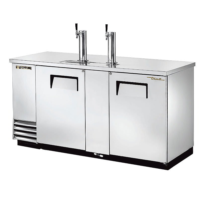 "True TDD-3-S-HC 69"" Draft Beer System w/ (3) Keg Capacity - (2) Columns, Stainless, 115v"