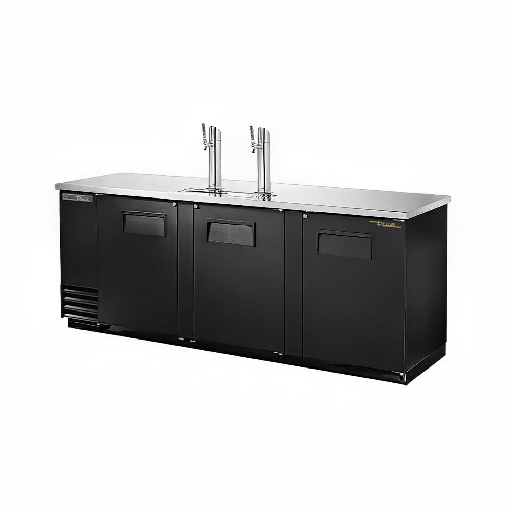 """True TDD-4-HC 90"""" Draft Beer System w/ (4) Keg Capacity - (2) Columns, Black, 115v"""
