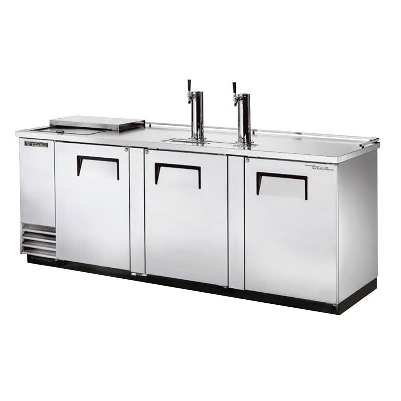 "True TDD-4CT-S-HC 90"" Draft Beer System w/ (4) Keg Capacity - (2) Columns, Stainless, 115v"