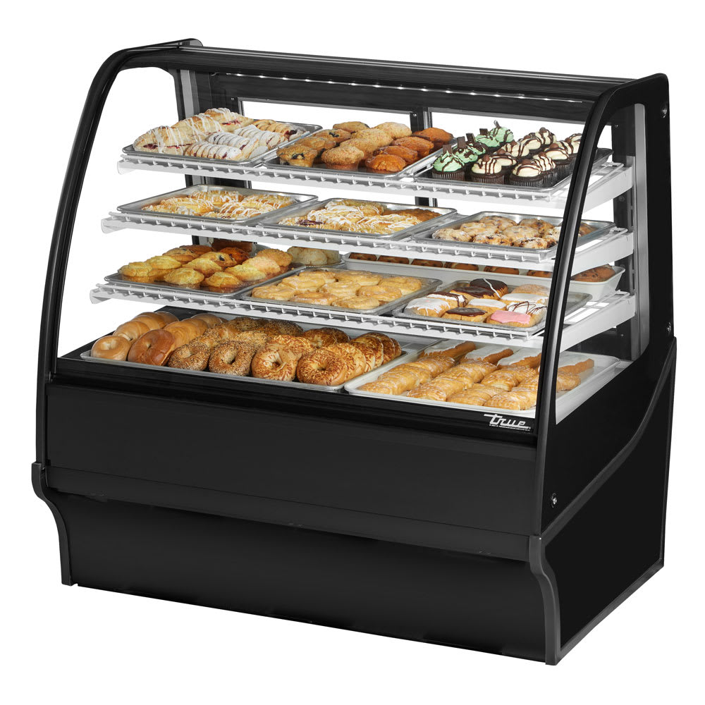 "True TDM-DC-48-GE/GE-B-W 48.25"" Full-Service Dry Bakery Case w/ Curved Glass - (4) Levels, 115v"