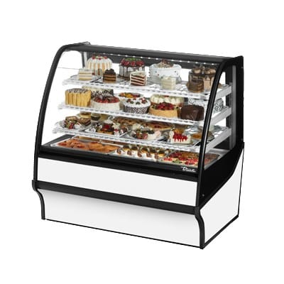 "True TDM-R-48-GE/GE-S-W 48.25"" Full-Service Bakery Case w/ Curved Glass - (4) Levels, 115v"