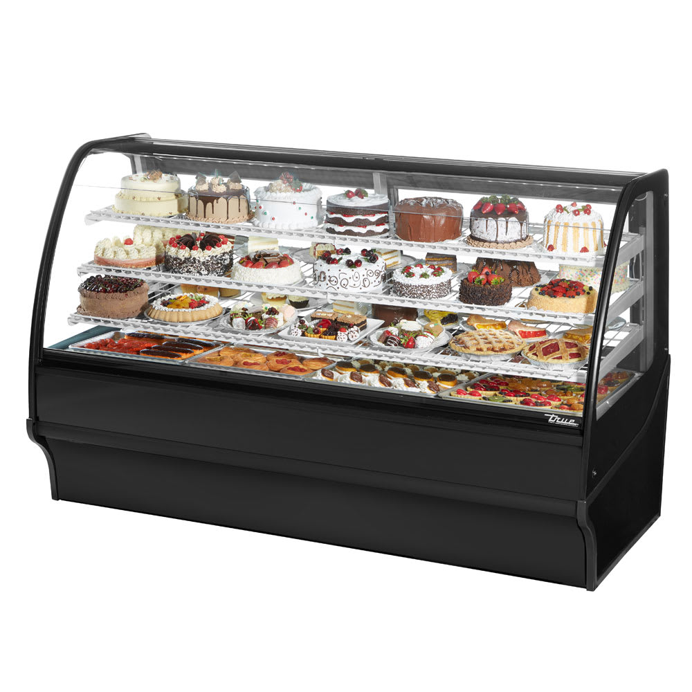 "True TDM-R-77-GE/GE-B-W 77.25"" Full Service Bakery Case w/ Curved Glass - (4) Levels, 115v"
