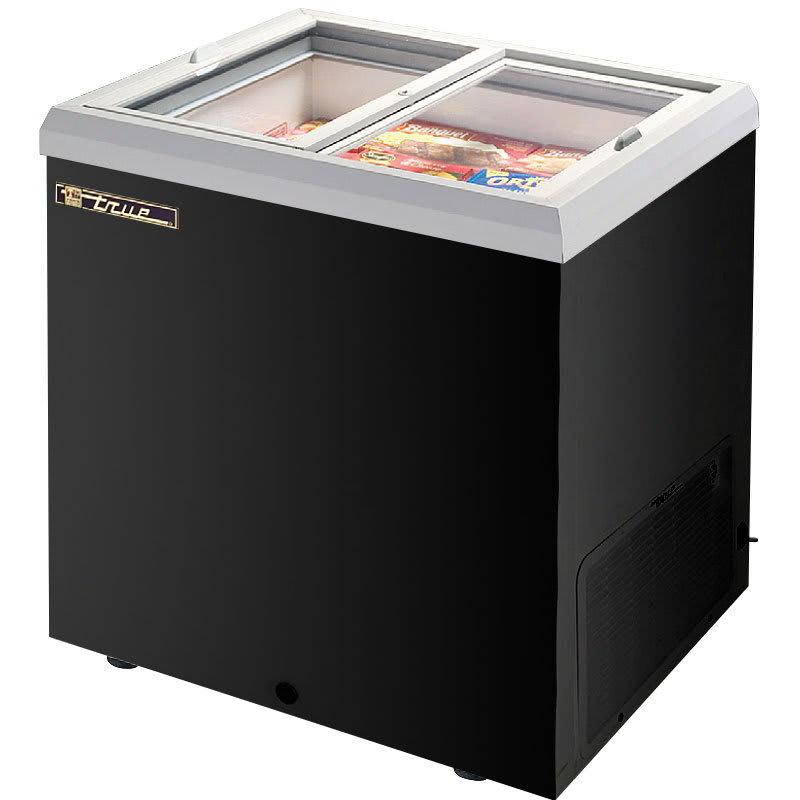 "True TFM-29FL 30"" Mobile Ice Cream Freezer, Black, 115v"