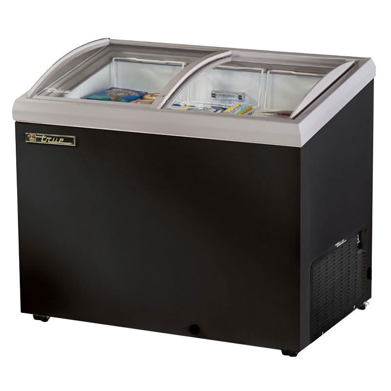 "True TFM-41AL BK 41.38"" Mobile Ice Cream Freezer, Black, 115v"