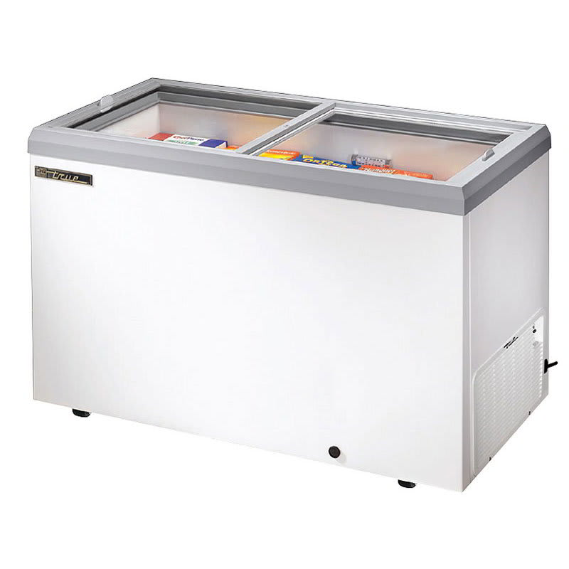 "True TFM-51FL 52"" Mobile Ice Cream Freezer, White, 115v"