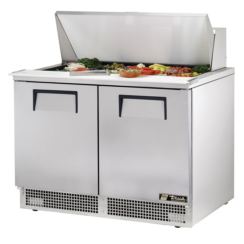 "True TFP-48-18M 48"" Sandwich/Salad Prep Table w/ Refrigerated Base, 115v"