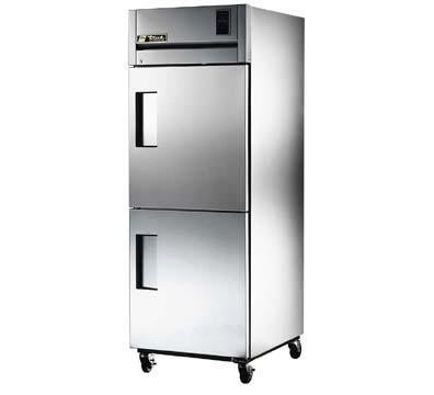 True TG1R-2HS Refrigerator, Reach-In, 1 Section, SS Half Doors, 3 Shelves, 31 cu ft