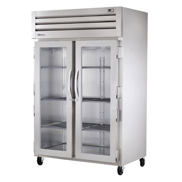 """True STG2H-2G 53"""" Reach-In Heated Cabinet - 2-Glass Doors, Stainless/Aluminum"""