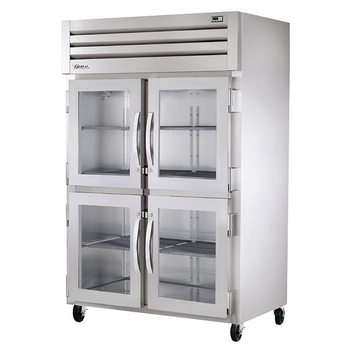 "True STG2H-4HG 53"" Reach-In Heated Cabinet - 2-Glass Half Doors, Stainless/Aluminum"