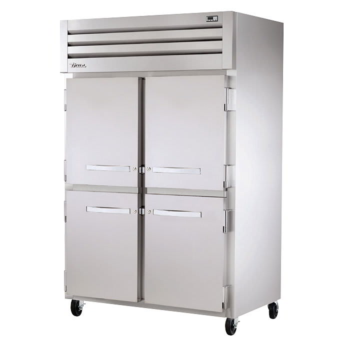 "True STG2H-4HS 53"" Reach-In Heated Cabinet - 4-Solid Half Doors, Stainless/Aluminum"