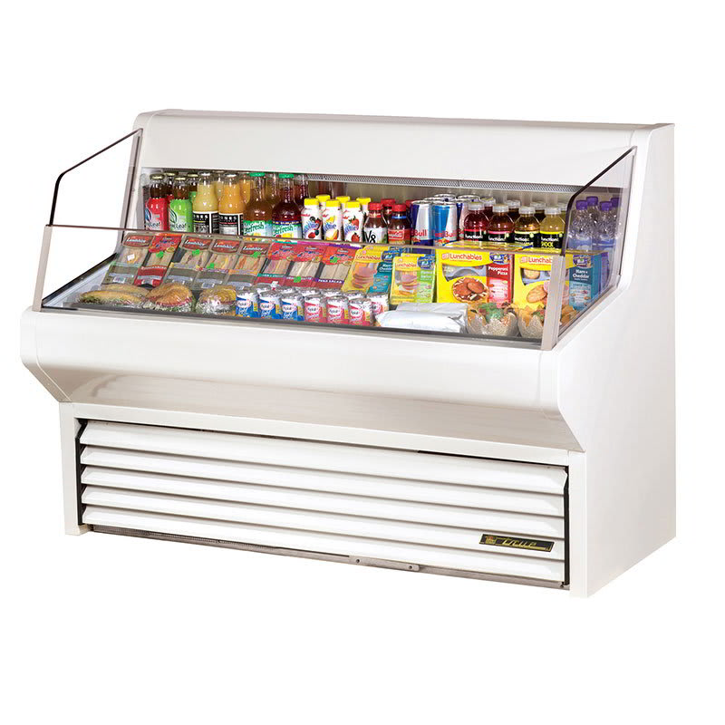 """True THAC-60 60"""" Horizontal Open Air Cooler w/ (3) Levels, White, 115v"""
