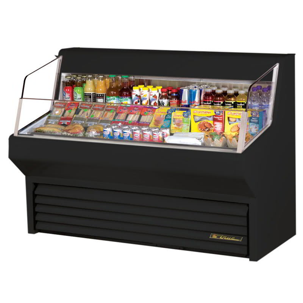"True THAC-60 BK 60"" Horizontal Open Air Cooler w/ (3) Levels, Black, 115v"