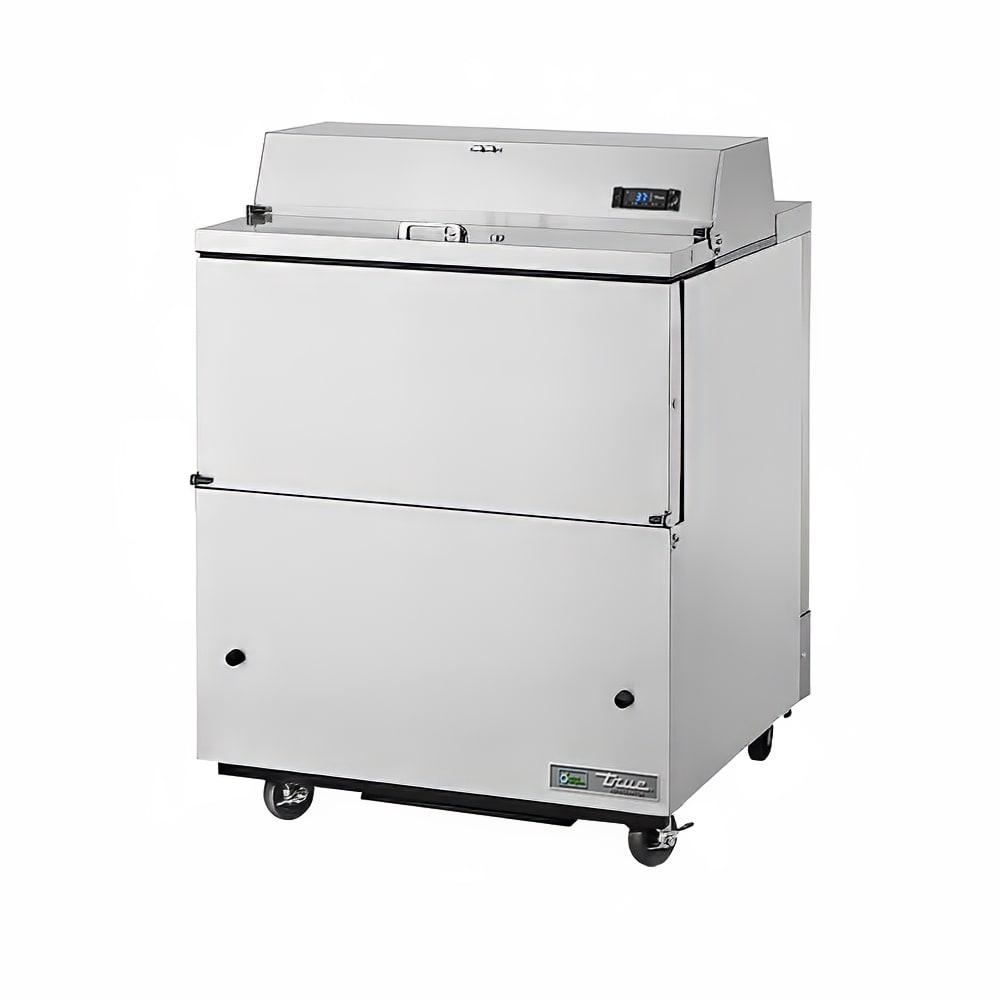 True TMC-34-S-SS-HC Milk Cooler w/ Top & Side Access - (512) Half Pint Carton Capacity, 115v