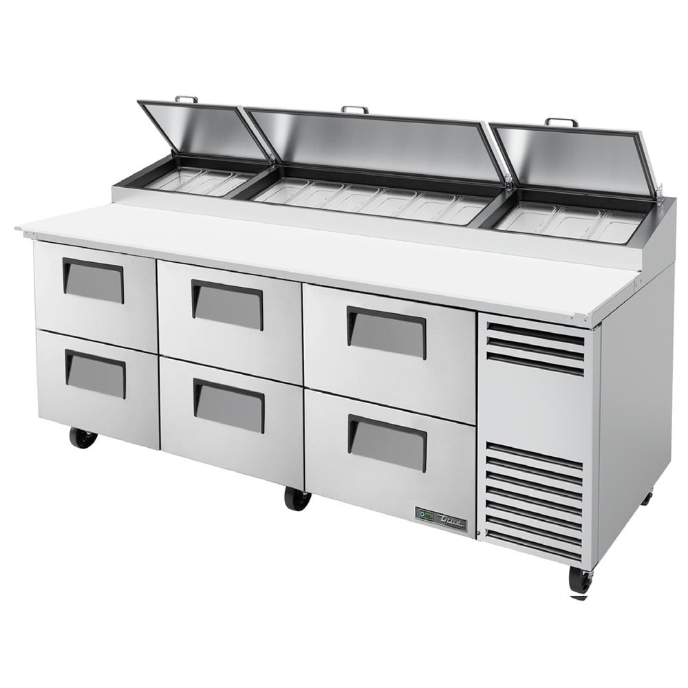 True Tpp At 93d 6 Hc 93 Pizza Prep Table W Refrigerated Base 115v
