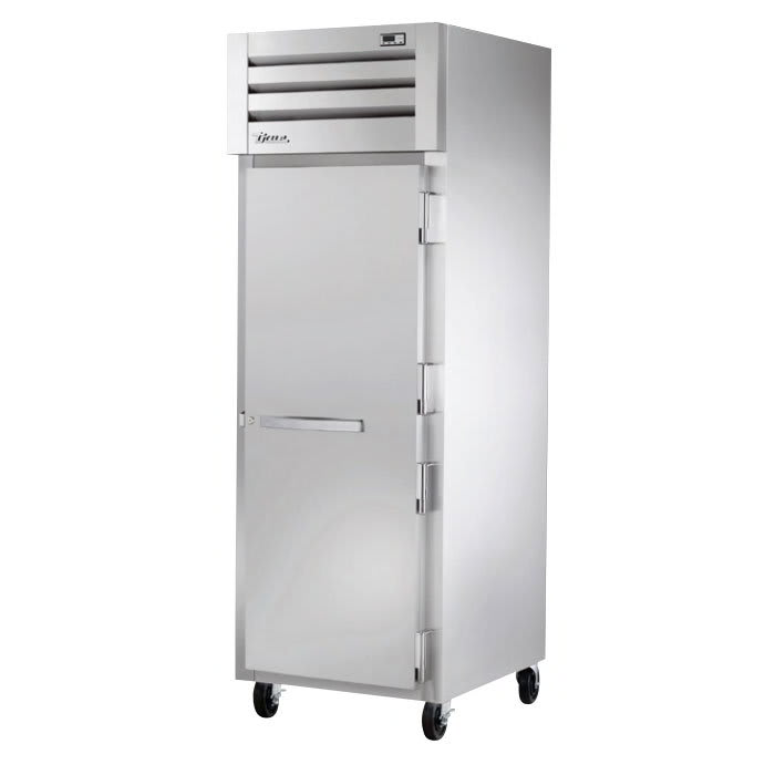 """True STR1H-1S 27-1/2"""" Reach-In Heated Cabinet - 1-Section, Solid Full Door, Stainless 208-230v"""