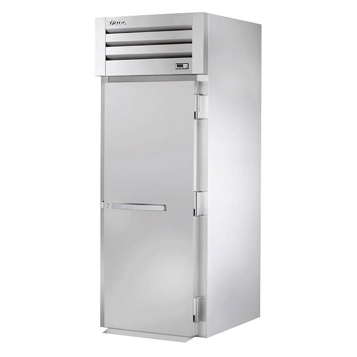 "True STR1HRI89-1S 35"" Roll-In Heated Cabinet - 1-Solid Door, 89""H, All Stainless"