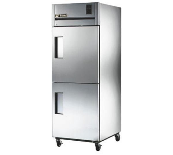 True TR1R-2HS Refrigerator, Reach-In, 1 Section, SS Half Doors, 31 cu ft