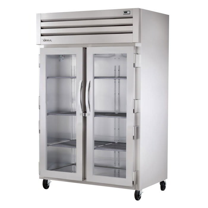 "True STR2H-2G 53"" Reach-In Heated Cabinet - 2-Glass Doors, All Stainless"