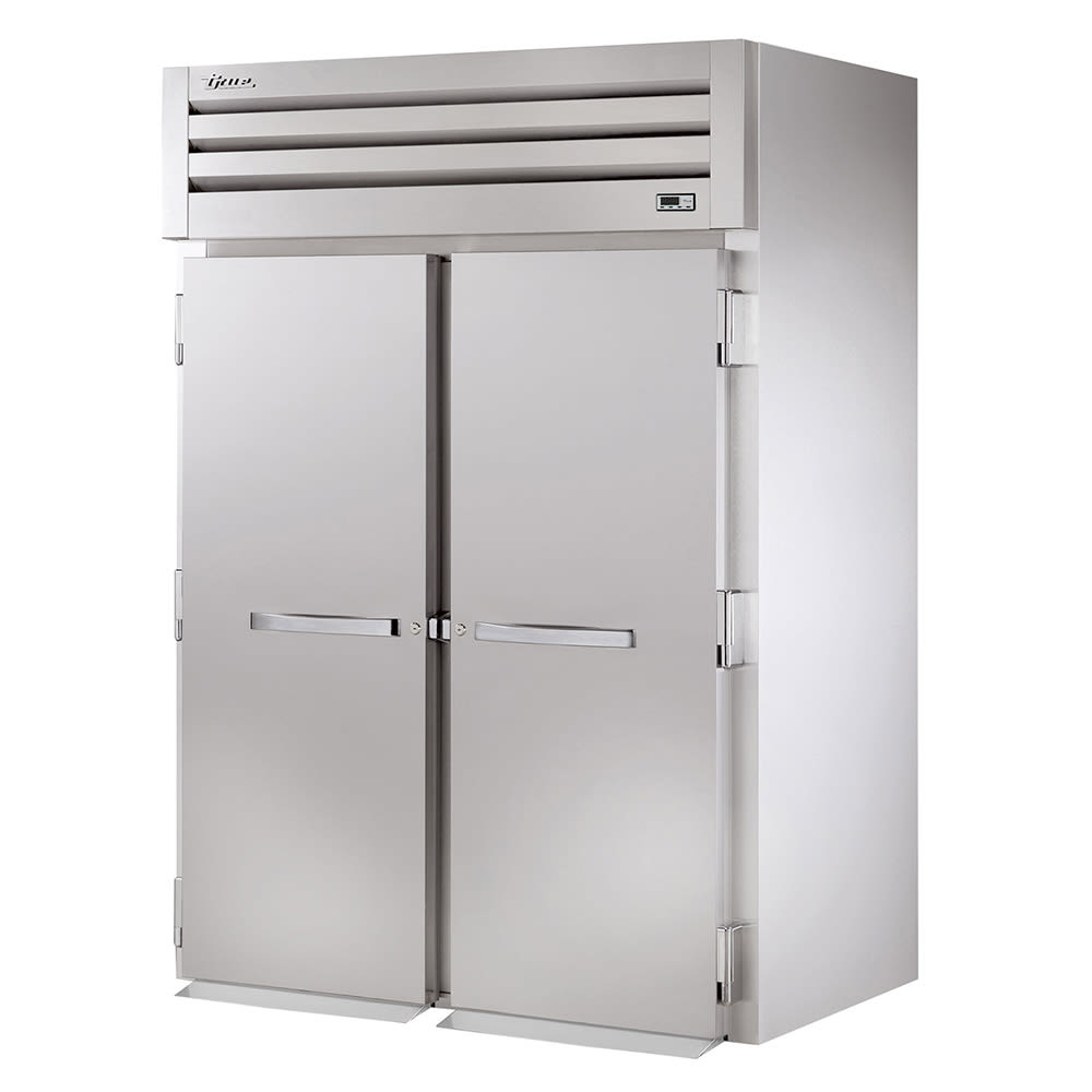 "True STR2HRI-2S 68"" Roll-In Heated Cabinet - 2-Solid Doors, All Stainless"