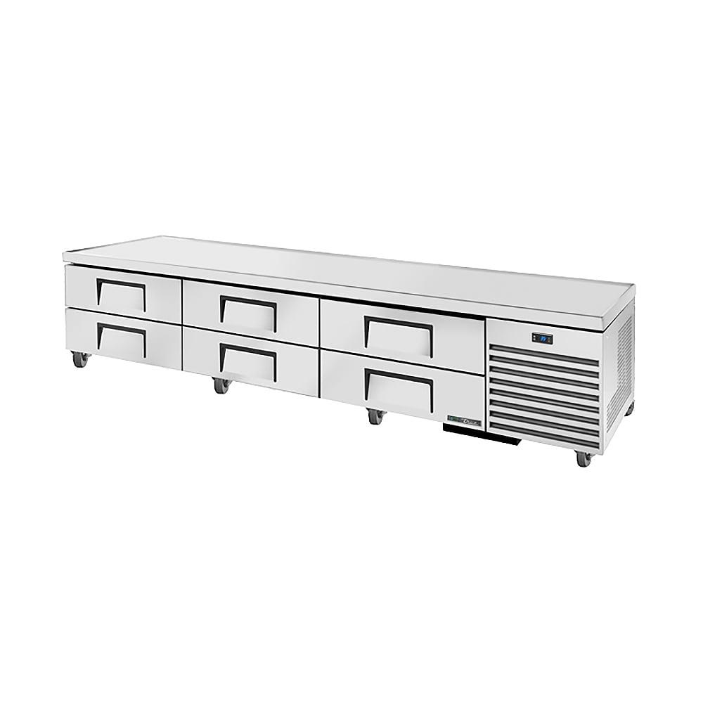 "True TRCB-110 110"" Chef Base w/ (6) Drawers - 115v"
