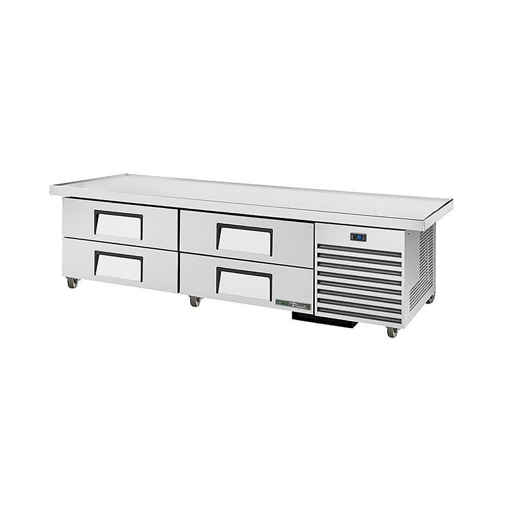"True TRCB-79-86 86"" Chef Base w/ (4) Drawers - 115v"