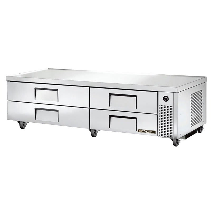 "True TRCB-82 82"" Chef Base w/ (4) Drawers - 115v"