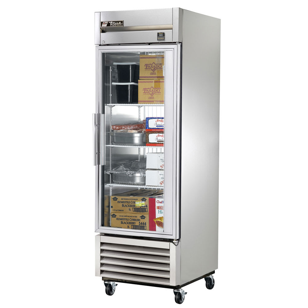 "True TS-23FG-LD 27"" Single Section Reach-In Freezer, (1) Glass Door, 115v"