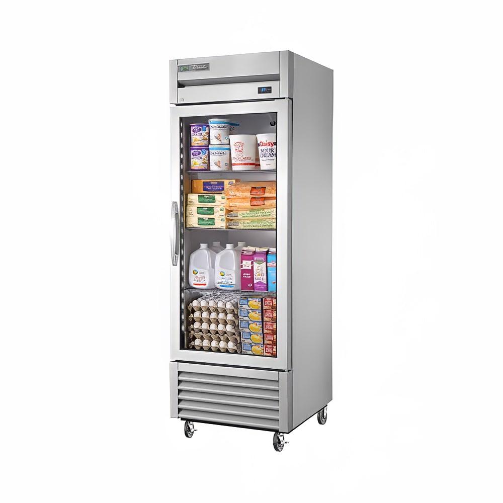 """True TS-23G-HC~FGD01 27"""" Single Section Reach-In Refrigerator, (1) Glass Door, 115v"""