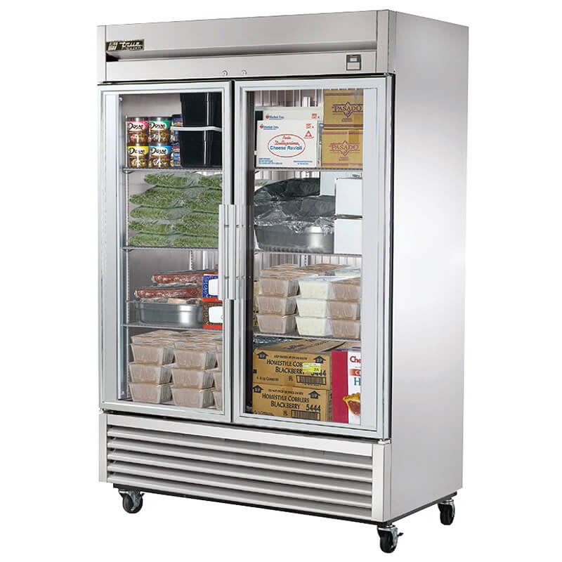 True Ts 49fg Hc Fgd01 54 13 Two Section Reach In Freezer 2 Glass Doors 115v