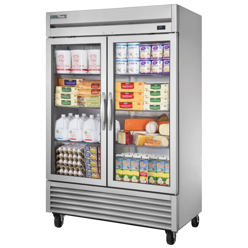 true ts 49g hcfgd01 54 two section reach in refrigerator 2 glass door 115v - Refridgerator Glass Door