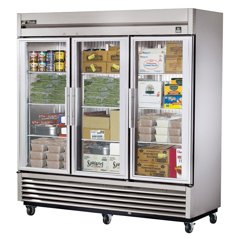 "True TS-72FG-HC~FGD01 78.13"" Three Section Reach-In Freezer, (3) Glass Door, 115/208-230v/1ph"