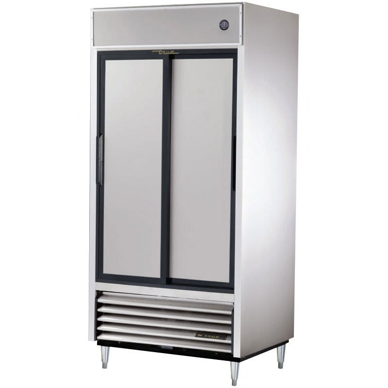 "True TSD-33-HC 39.5"" Two Section Reach-In Refrigerator, (2) Solid Door, 115v"