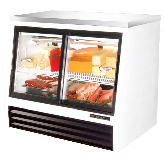 "True TSID-48-4-L 48"" Self Service Deli Case w/ Straight Glass - (2) Levels, 115v"