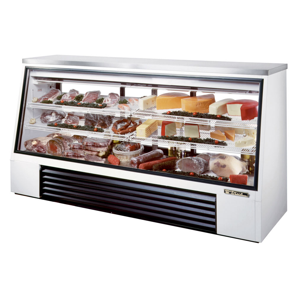 "True TSID-96-3 96"" Full Service Deli Case w/ Straight Glass - (3) Levels, 115v"