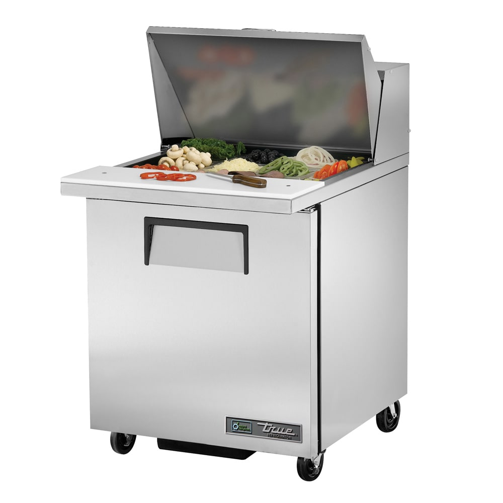 "True TSSU-27-12M-B-HC 27"" Sandwich/Salad Prep Table w/ Refrigerated Base, 115v"