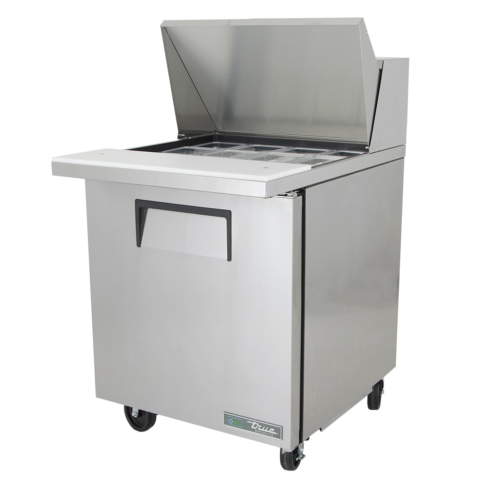 "True TSSU-27-12M-C-HC 27"" Sandwich/Salad Prep Table w/ Refrigerated Base, 115v"