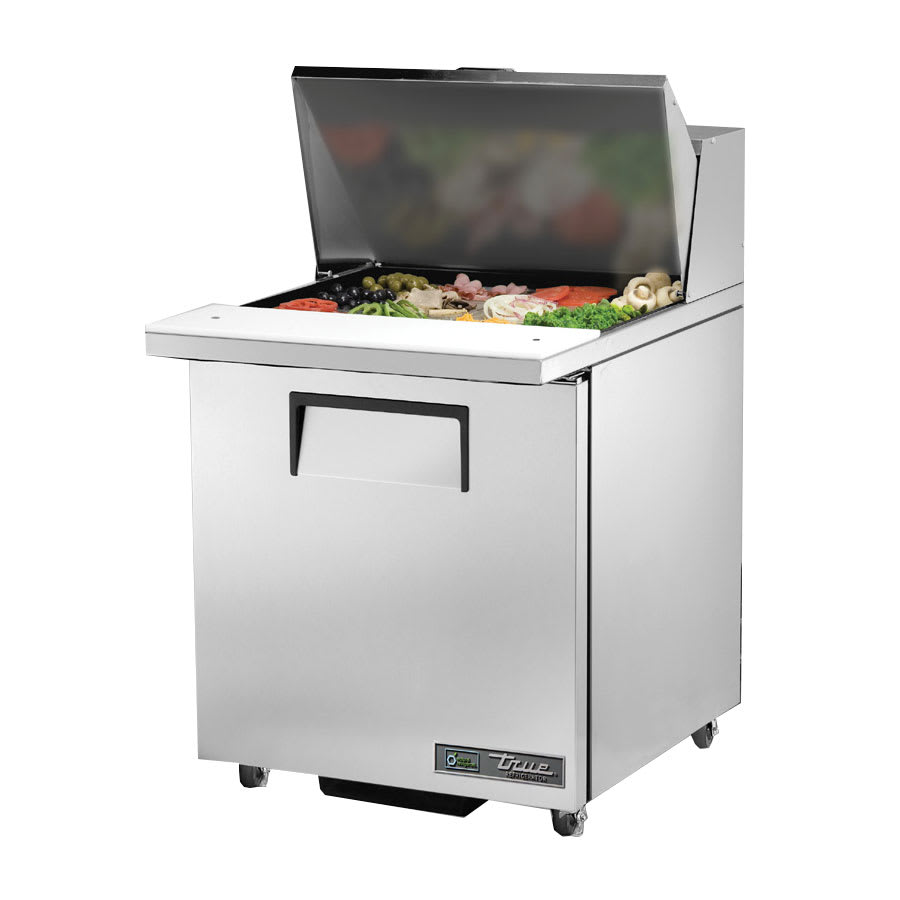 "True TSSU-27-12M-C-HC LH 27.63"" Sandwich/Salad Prep Table w/ Refrigerated Base, 115v"