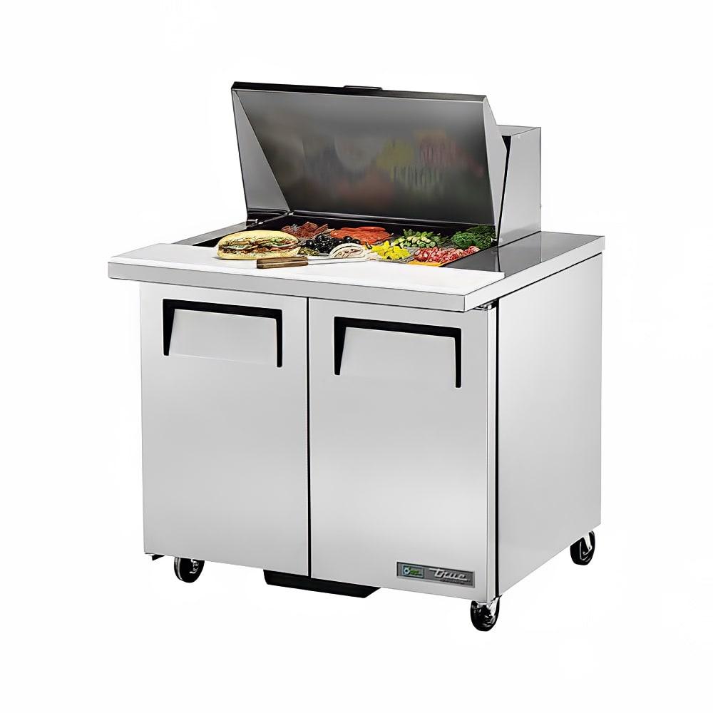 """True TSSU-36-12M-B 36"""" Sandwich/Salad Prep Table w/ Refrigerated Base, 115v"""
