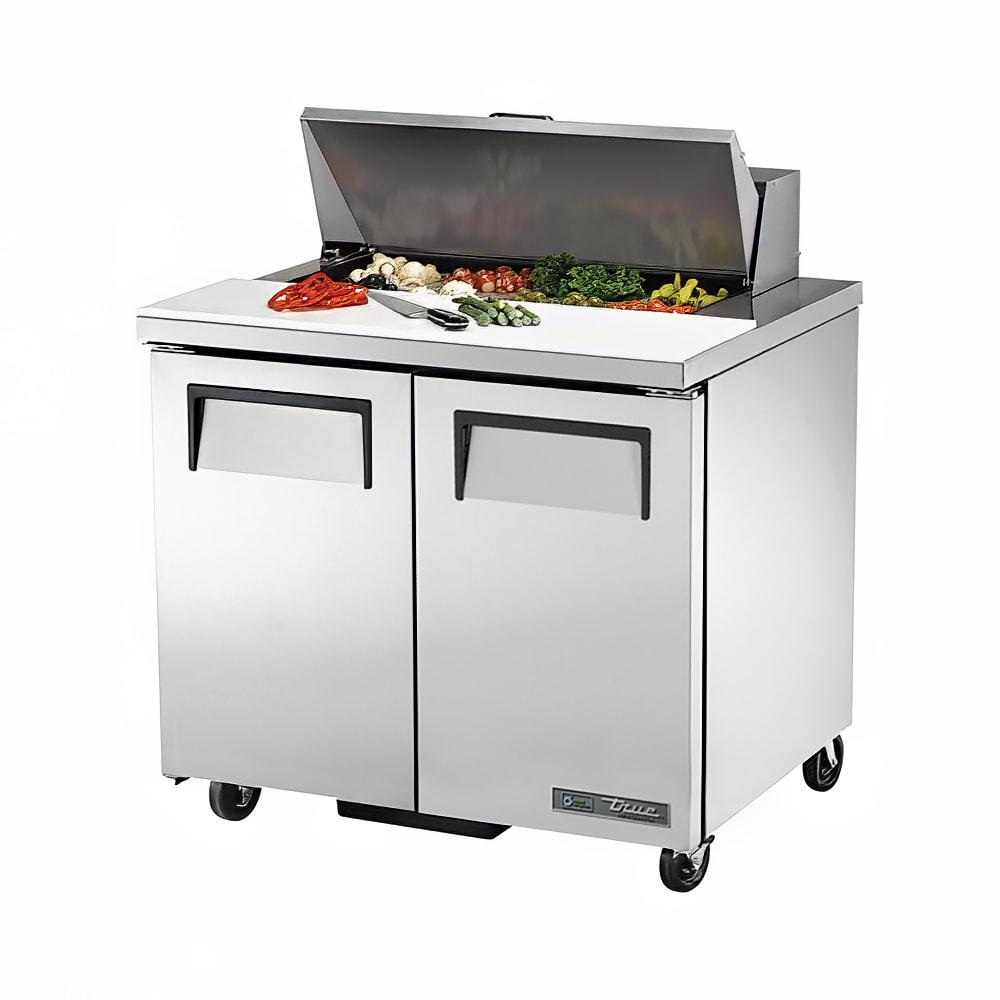 """True TSSU-36-08 36"""" Sandwich/Salad Prep Table w/ Refrigerated Base, 115v"""