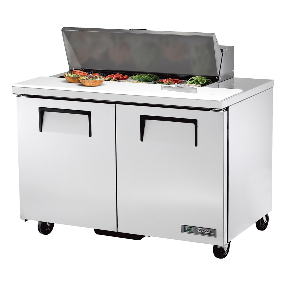 "True TSSU-48-10-HC 48"" Sandwich/Salad Prep Table w/ Refrigerated Base, 115v"