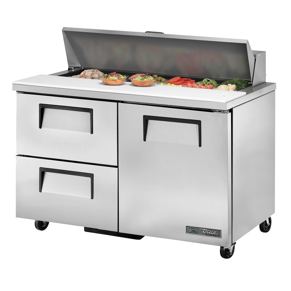 True TSSUDHC SandwichSalad Prep Table W Refrigerated - True refrigerated prep table