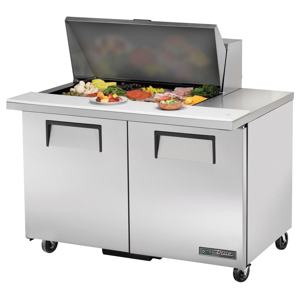 """True TSSU-48-15M-B-HC 48"""" Sandwich/Salad Prep Table w/ Refrigerated Base, 115v"""