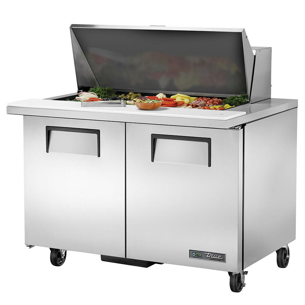 "True TSSU-48-18M-B-HC 48"" Sandwich/Salad Prep Table w/ Refrigerated Base, 115v"