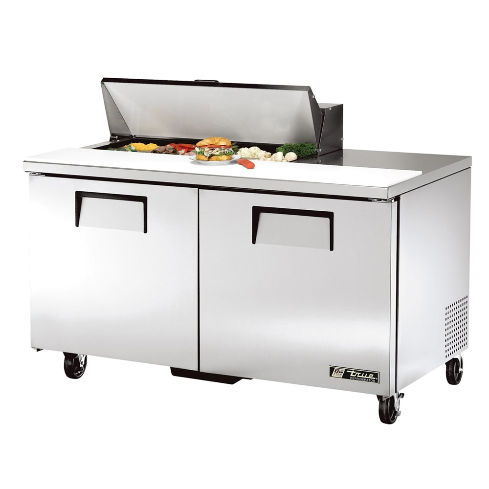 "True TSSU-60-10-HC 60"" Sandwich/Salad Prep Table w/ Refrigerated Base, 115v"