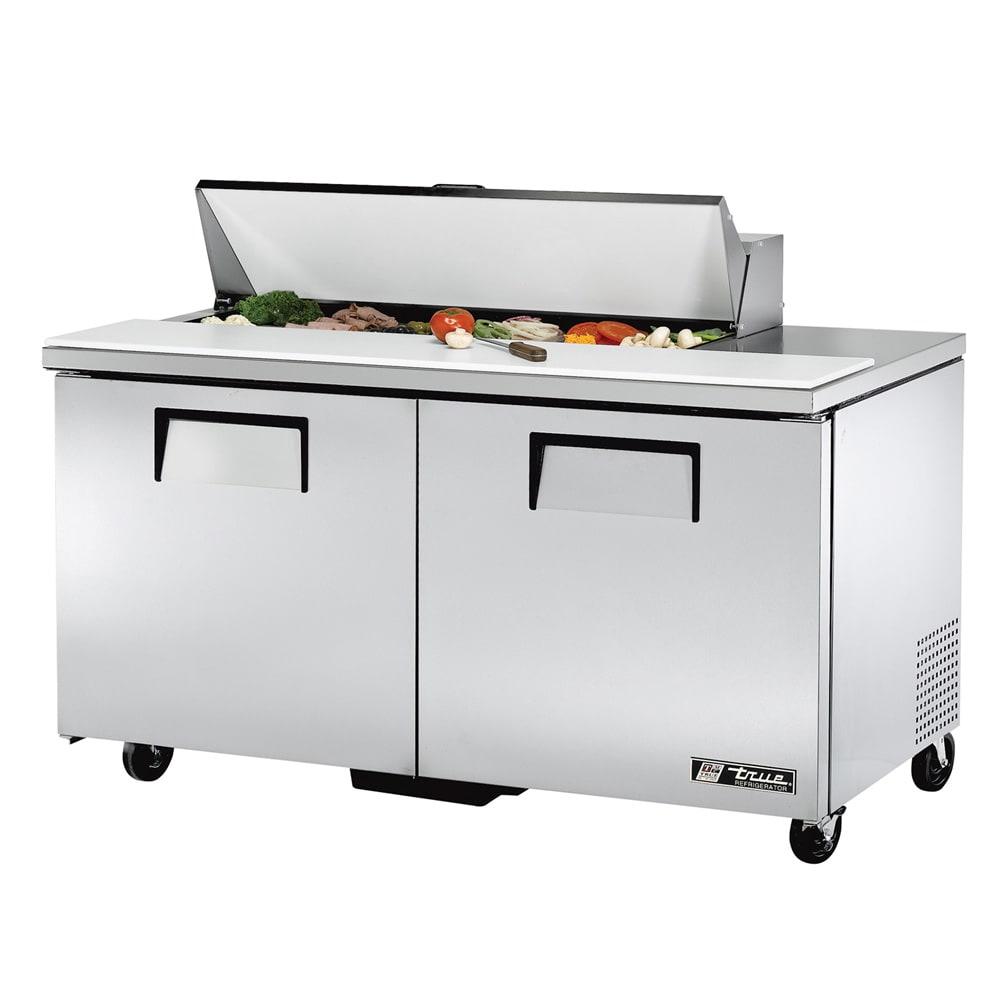 """True TSSU-60-12-HC 60"""" Sandwich/Salad Prep Table w/ Refrigerated Base, 115v"""