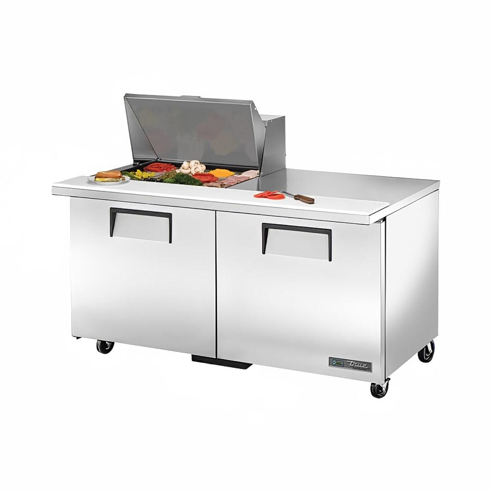 """True TSSU-60-12M-B-HC 60"""" Sandwich/Salad Prep Table w/ Refrigerated Base, 115v"""