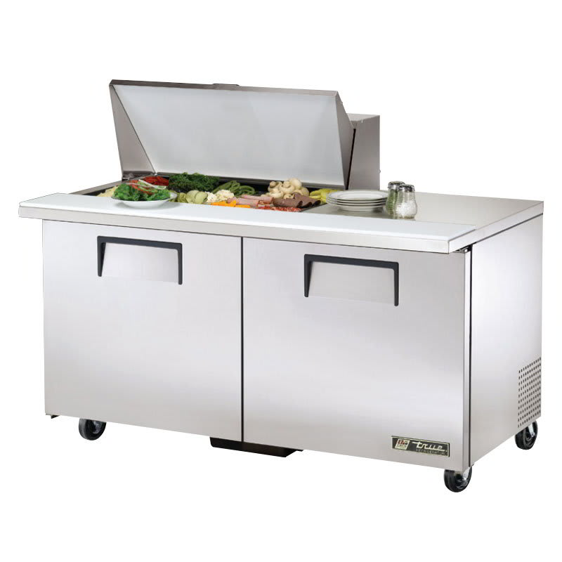 "True TSSU-60-15M-B-HC 60"" Sandwich/Salad Prep Table w/ Refrigerated Base, 115v"