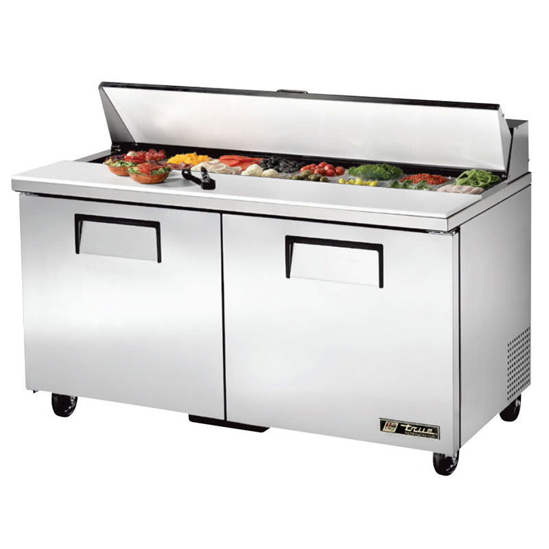 "True TSSU-60-16-HC 60"" Sandwich/Salad Prep Table w/ Refrigerated Base, 115v"