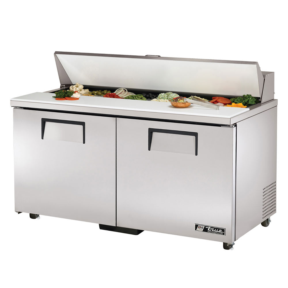 "True TSSU-60-16-ADA-HC 60"" ADA Height Sandwich/Salad Prep Table w/ Refrigerated Base, 115v"