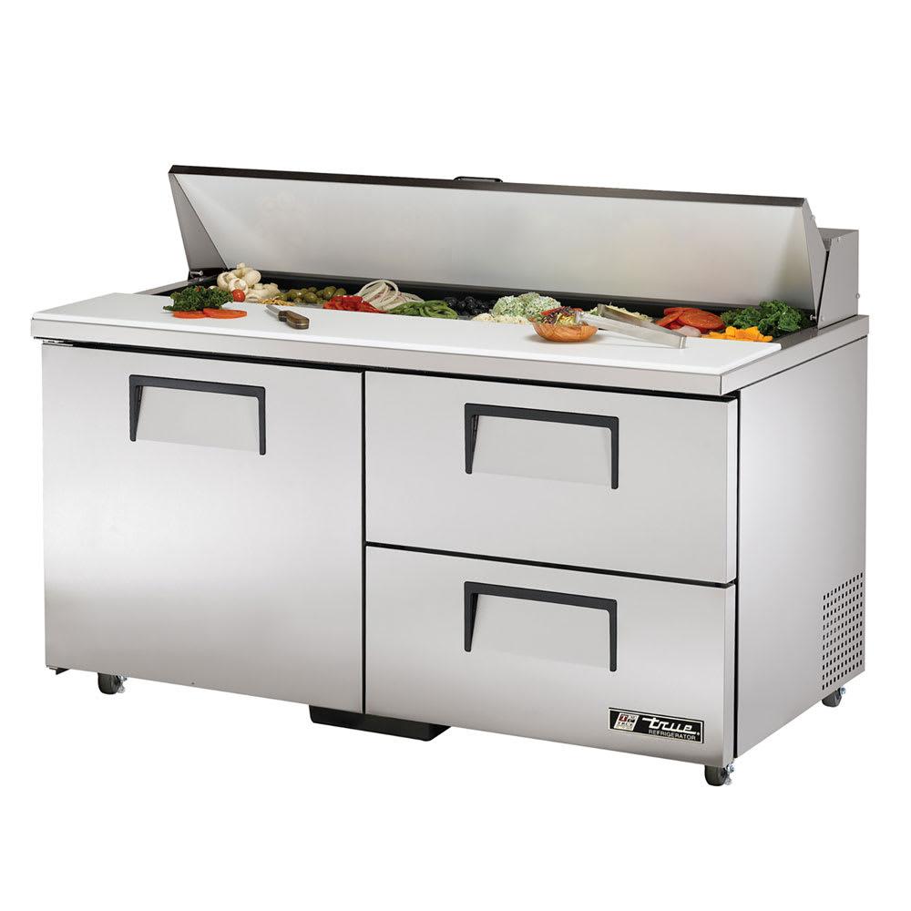 """True TSSU-60-16D-2-ADA-HC 60"""" Sandwich/Salad Prep Table w/ Refrigerated Base, 115v"""